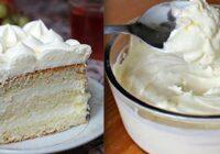 Maigs un gaisīgs tortes krēms-ķer ciet recepti!