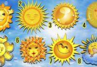 Izvēlieties sauli un atklājiet savas dvēseles iekšējos noslēpumus