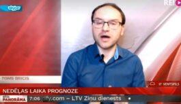 """VIDEO: """"Uzmanību!"""" Toms Bricis brīdina iedzīvotājus par laika apstākļiem tuvākajā nedēļā"""
